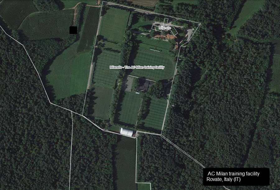 Milanello training facility
